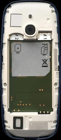 Nokia 3310 - Premiers pas - Insérer la carte SIM - Étape 6
