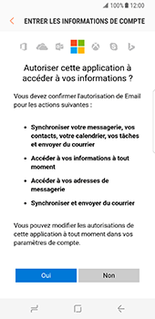 Samsung Galaxy S8 - E-mail - 032c. Email wizard - Outlook - Étape 10