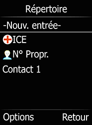 Doro 6520 - Contact, Appels, SMS/MMS - Ajouter un contact - Étape 7