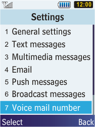 Samsung C3350 Xcover 2 - Voicemail - Manual configuration - Step 5