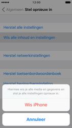 Apple iPhone SE iOS 10 - Toestel reset - terugzetten naar fabrieksinstellingen - Stap 6