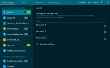 Samsung T805 Galaxy Tab S - WiFi - WiFi-Konfiguration - Schritt 5