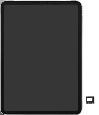 Apple ipad-pro-10-5-inch-met-ipados-13-model-a1709 - Instellingen aanpassen - SIM-Kaart plaatsen - Stap 3