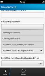 BlackBerry Z10 - SMS - Handmatig instellen - Stap 9