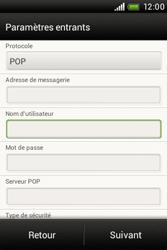 HTC A320e Desire C - E-mail - Configuration manuelle - Étape 8