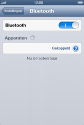 Apple iPhone 4 (iOS 6) - bluetooth - headset, carkit verbinding - stap 7