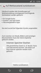Sony Xperia E4G - Fehlerbehebung - Handy zurücksetzen - 1 / 1