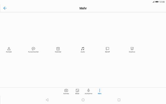 Huawei MediaPad T3 (10.0) LTE - MMS - Erstellen und senden - 1 / 1