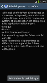 Samsung Galaxy Note 3 - Aller plus loin - Restaurer les paramètres d'usines - Étape 7