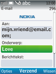 Nokia C2-01 - e-mail - hoe te versturen - stap 9