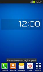 Samsung Galaxy Trend Lite - Operazioni iniziali - Installazione di widget e applicazioni nella schermata iniziale - Fase 9