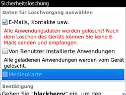 BlackBerry 9900 Bold Touch - Fehlerbehebung - Handy zurücksetzen - Schritt 10