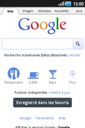 Samsung S5660 Galaxy Gio - Internet - navigation sur Internet - Étape 6
