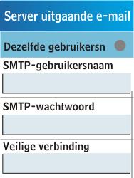 Samsung C3300K - E-mail - handmatig instellen - Stap 18