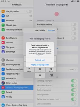 Apple iPad mini 4 - iPadOS 13 - Beveiliging - stel in of wijzig pincode voor je toestel - Stap 6