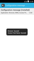 Huawei Ascend Y625 - Internet - Automatic configuration - Step 7