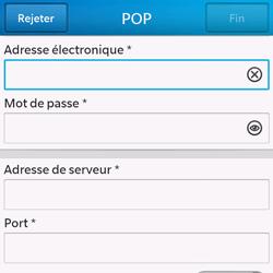 BlackBerry Q10 - E-mail - Configuration manuelle - Étape 9