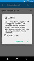 Sony Xperia Z5 - Internet und Datenroaming - Prüfen, ob Datenkonnektivität aktiviert ist - Schritt 6