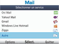 Nokia Asha 302 - E-mail - Configuration manuelle - Étape 4