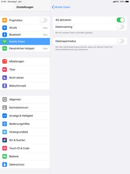 Apple iPad Air (2019) - iPadOS 13 - Netzwerk - So aktivieren Sie eine 4G-Verbindung - Schritt 6