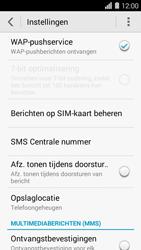 Huawei Ascend Y550 - sms - handmatig instellen - stap 5