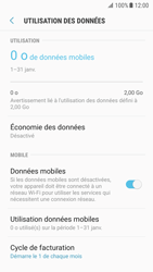Samsung Galaxy S7 - Android N - Internet et roaming de données - Comment vérifier que la connexion des données est activée - Étape 7