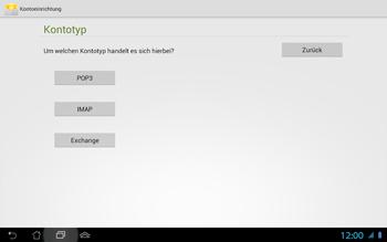 Asus Padfone 2 - E-Mail - Konto einrichten - Schritt 10