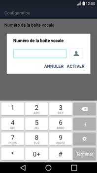 LG H365 G4 Stylus - Messagerie vocale - configuration manuelle - Étape 8
