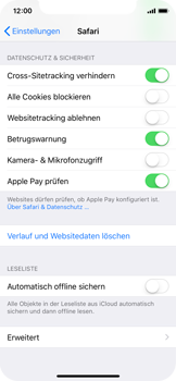 Apple iPhone X - iOS 11 - Neue Datenschutz- und Sicherheitsfunktionen für Safari aktivieren - 6 / 6
