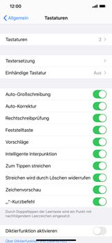 Apple iPhone XS Max - iOS 13 - Startanleitung - So fügen Sie eine Tastatursprache hinzu - Schritt 5