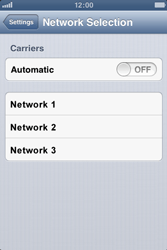 Apple iPhone 3GS - Network - Manual network selection - Step 7