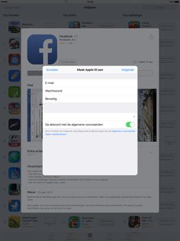Apple iPad Pro 12.9 inch (2nd generation) - Applicaties - Account aanmaken - Stap 10