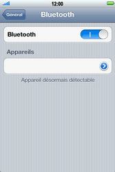 Apple iPhone 4 S - Bluetooth - connexion Bluetooth - Étape 8