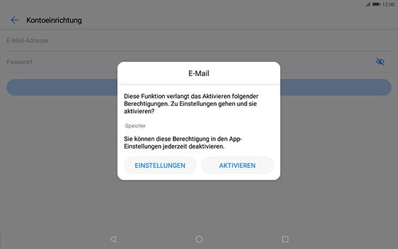 Huawei MediaPad T3 (10.0) LTE - E-Mail - Konto einrichten - Schritt 6