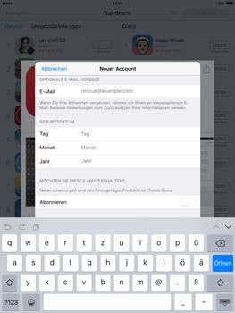 Apple iPad Air 2 - Apps - Konto anlegen und einrichten - 25 / 35
