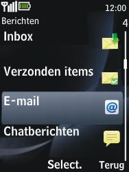 Nokia 2730 classic - e-mail - handmatig instellen - stap 4
