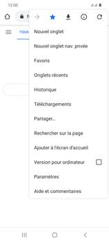 Samsung Galaxy S20 5G - Internet et roaming de données - Navigation sur Internet - Étape 14