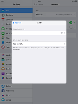 Apple iPad mini 4 iOS 10 - E-mail - Manual configuration IMAP without SMTP verification - Step 21