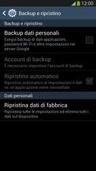 Samsung Galaxy S 4 LTE - Dispositivo - Ripristino delle impostazioni originali - Fase 7