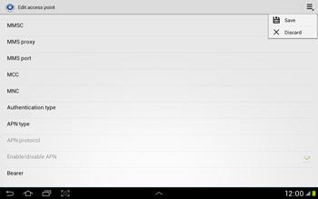 Samsung Galaxy Tab 2 10.1 - Internet and data roaming - Manual configuration - Step 15