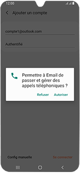 Samsung Galaxy A40 - E-mails - Ajouter ou modifier votre compte Outlook - Étape 10