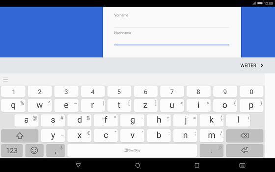 Huawei MediaPad T3 (10.0) LTE - Apps - Konto anlegen und einrichten - 6 / 20