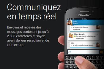 BlackBerry curve 3G - Premiers pas - Spécificités produit - Étape 3