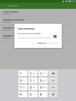 Samsung Galaxy Tab A 9.7 - Anrufe - Rufumleitungen setzen und löschen - 10 / 13