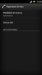Sony Xperia U - Rete - Selezione manuale della rete - Fase 7