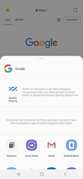 Samsung Galaxy Note 20 Ultra 5G - Internet und Datenroaming - Verwenden des Internets - Schritt 23