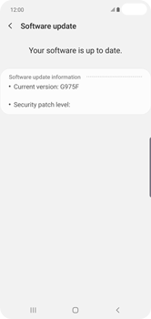 Samsung Galaxy S10 Plus - Device - Software update - Step 8