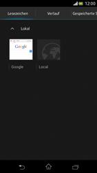 Sony Xperia V - Internet und Datenroaming - Verwenden des Internets - Schritt 14