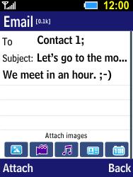 Samsung B550H Xcover 550 - E-mail - Sending emails - Step 11