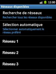 Samsung Galaxy Pocket - Réseau - Sélection manuelle du réseau - Étape 9